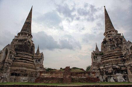 buddhist stupa: Ancient Buddhist stupa in Temple, Ayutthaya, Thailand