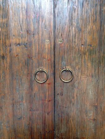 closeup wood door photo