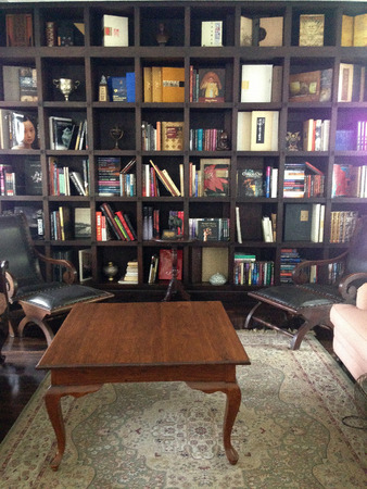 organized home: Home library