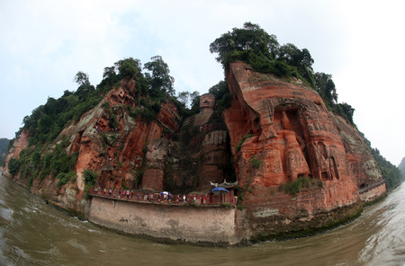 the giant buddah of leshan sichuan province china Stock Photo