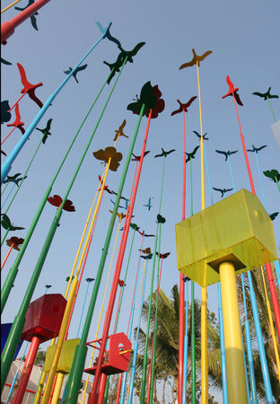 a birds metal decoration photo