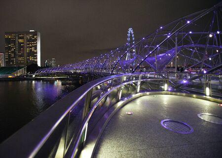 Helix Bridge singapore travel Landmarks