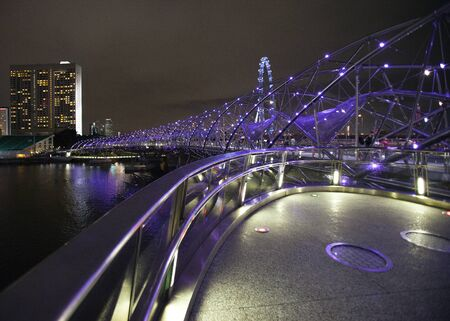 Helix Bridge singapore travel Landmarks