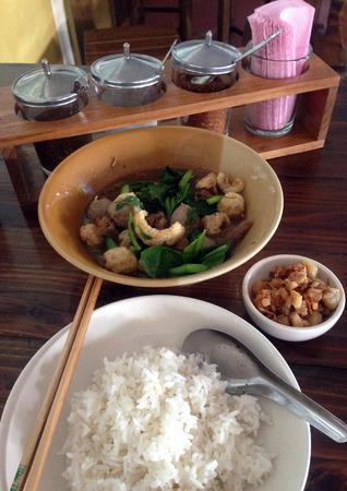 noodle soup: noodle soup with rice Stock Photo