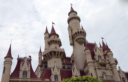 Beautiful castle in Universal Studios Singapore