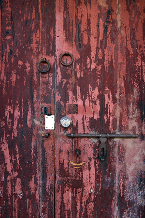 wooden door photo