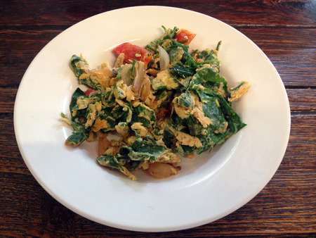 vegetable fried with egg  Phak Chiangda, Gurmar  photo