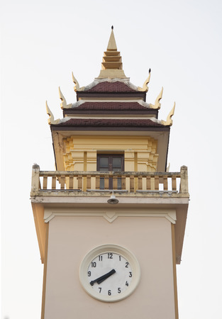 Clock Tower in Chiang Mai Stock Photo