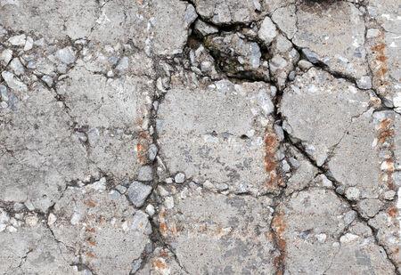 Cracked concrete ground texture