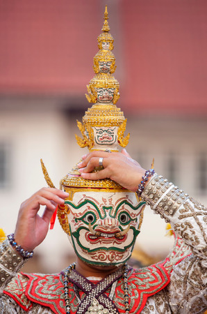 khon: Thai traditional mask Khon Stock Photo