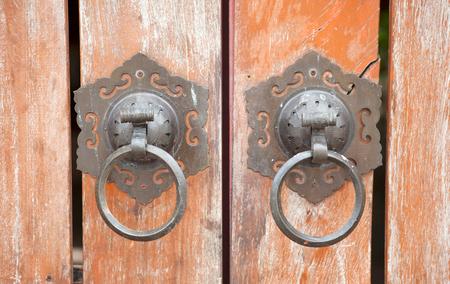 architectural detail ; door and metal handles