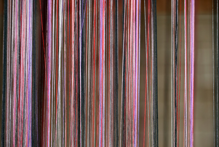 dyed threads for needlework photo