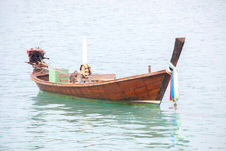 long tailed boat: Long tailed boat in the sea