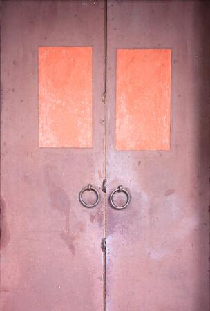 keep gate closed: Scary Steel Door Stock Photo