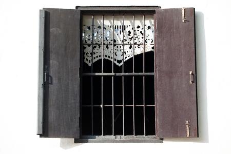 Traditional Thai style window Stock Photo