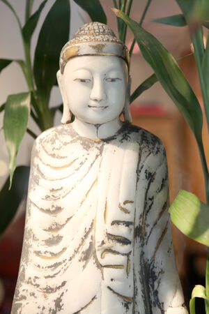 Antique of Buddha Stock Photo