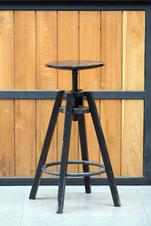out dated: old dark wooden stool