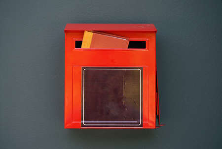stereotypes: Red Mail Box in the wall