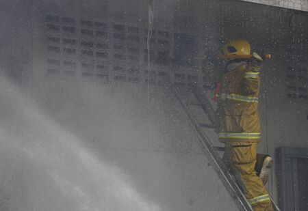 substantial: CHIANG MAI THAILAND MAY 17: Fire in Warehouses  catch fire in warehouses of Sales Religious Supplies Substantial damage on May 17 2015 in Chiang Mai Thailand.