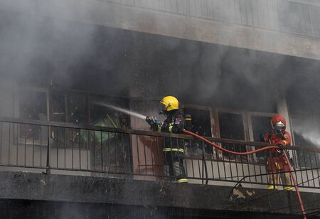 substantial: CHIANG MAI, THAILAND MAY 17: Fire in Warehouses - catch fire in warehouses of Sales Religious Supplies Substantial damage on May 17, 2015 in Chiang Mai, Thailand. Editorial