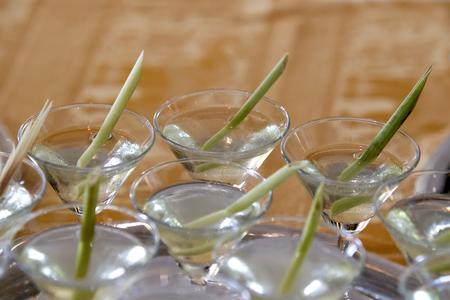 Thai herbal drinks, Lemon grass water, soft focus