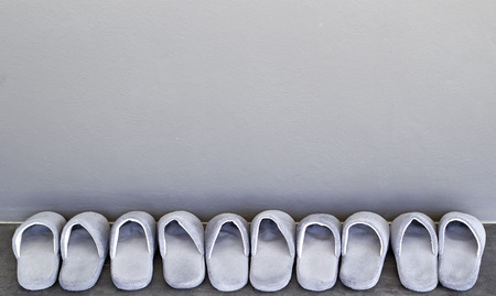 house slippers in the room Stock Photo