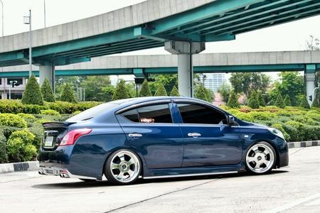 Blue ECO car VIP Style Stock Photo