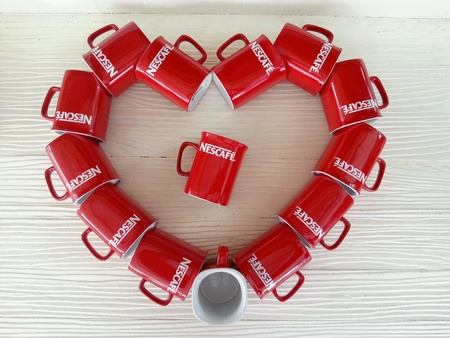 nescafe: Red Cup in Heart