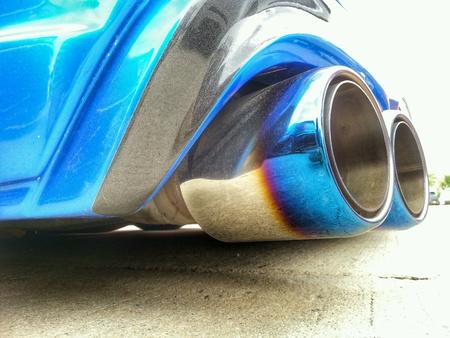 chrome: Car Reflections Stock Photo