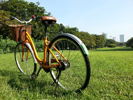 Bicycle in park photo