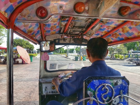 Tricycle in Bangkok Thailand photo