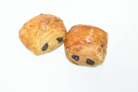 repast: Croissant bread on white background