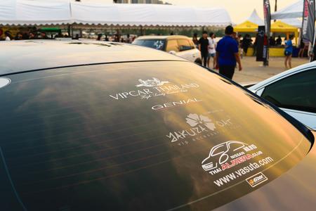 Nonthaburi, Thailand - February 28, 2015 : VIP Car Thailand car show meeting in the Bangkok Idle Street Car Club Culture 2015 at the Lakeside Muang Thong Thani, Pak Kret City