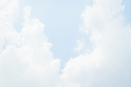 Blue sky and white cloud. Stock Photo