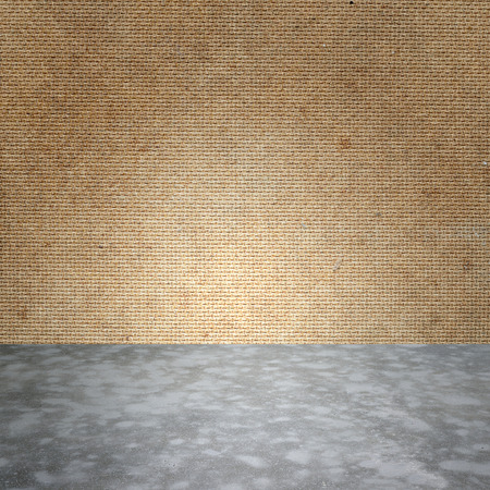polished floor: Polished bare concrete floor and plywood wall texture background