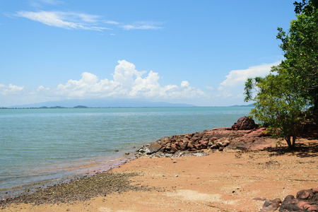 Beach and tropical sea with blue sky Stock Photo - 41261438