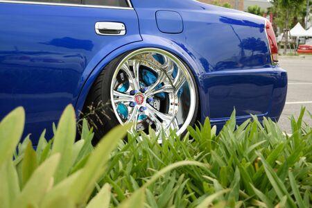 mag: Bangkok Thailand  June 27 2015 : VIP car Thailand car show in the VIP style mag. meeting no.1 at the MEGAbangna Bangkok