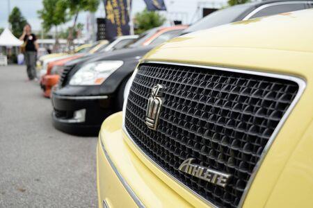 mag: Bangkok, Thailand - June 27, 2015 : VIP car Thailand car show in the VIP style mag. meeting no.1 at the Bangna, Bangkok. This a open event no need press credentials required.