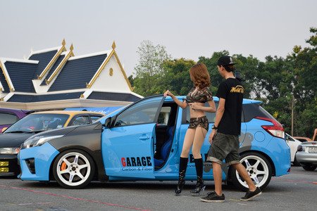 infirmary: Bangkok, Thailand - March 28, 2015 : The 4th Anniversary of Flushstyle Thailand was exhibited at 11th Infirmary Regiment in Bangkok, Thailand. This a open event no need press credentials required.