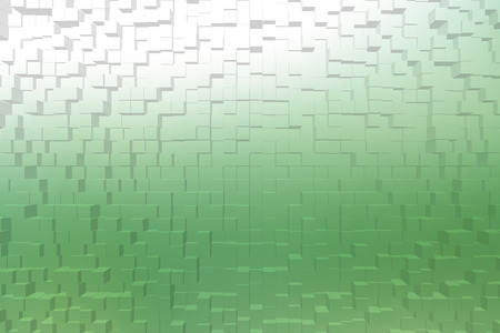 color 3d: Frosted glass texture background green color, 3d block style