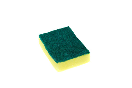 dub: Sponges for dishwashing isolated on white background, clipping path included.