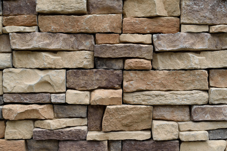 Stone wall texture background natural color Stock Photo