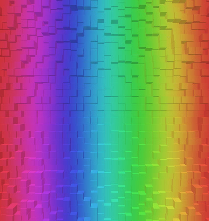 rgb: Blurred Colorful rainbow abstract background RGB Color 8bit, 3d block style