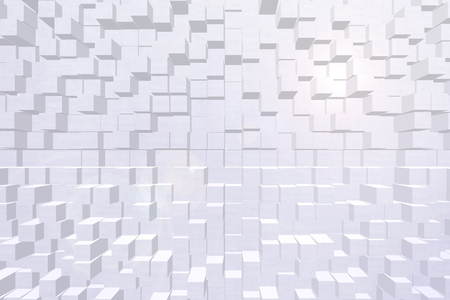 Wallpaper background effect 3d block style Banco de Imagens