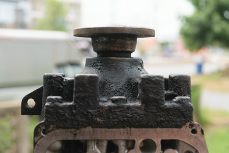 truck repair: Split car transmission gear Stock Photo