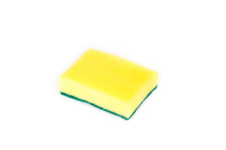 dishwashing: Sponges for dishwashing isolated on white background, clipping path included.