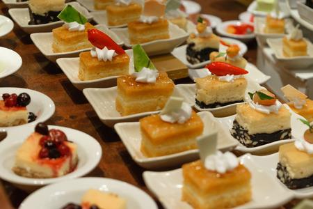 Assorted fruit and dessert buffet