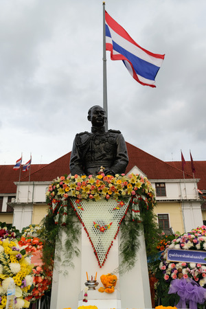 reminisce: Bangkok, Thailand - September 14, 2015 : The State Railway of Thailand hold the Purachatra Remembrance Day to honor the previous commander.