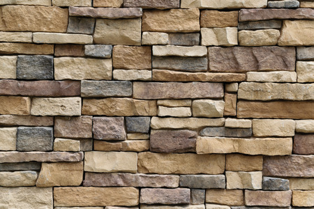 Stone wall texture background surface natural color Foto de archivo