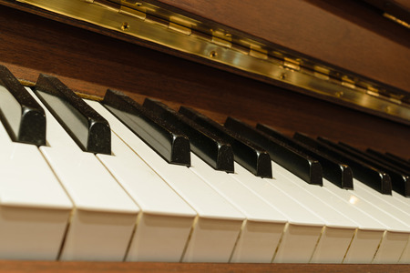 warm color: Classical piano keys in warm color tone